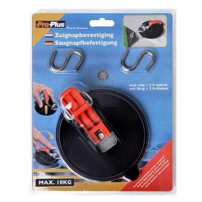 ProPlus Sugkopp med Ring och 2 S-Krokar 758082
