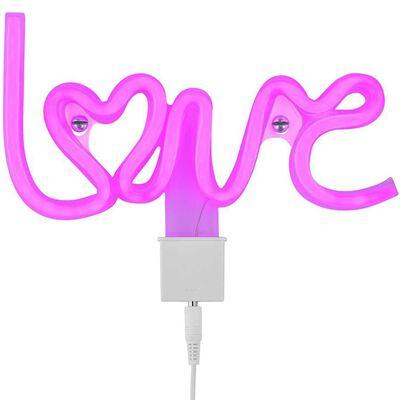 Wofi Neon bordslampa Love lila