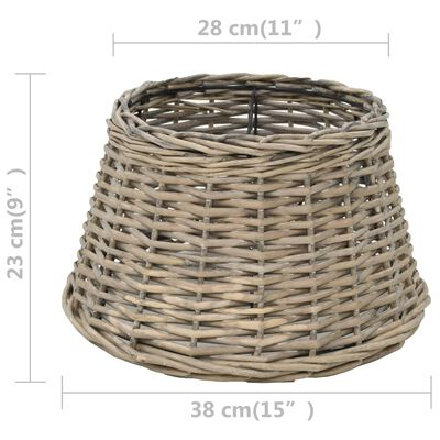 vidaXL Lampskärm korg 38x23 cm naturlig