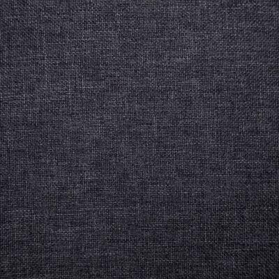 vidaXL Matstolar 4 st mörkgrå tyg