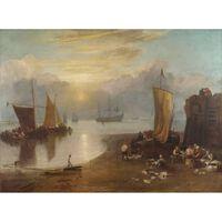 Sun rising tyhrough vapour,Joseph Mallord William Turner,50x40cm,
