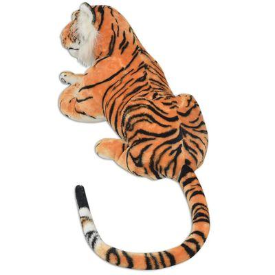 vidaXL Tigerleksak plysch brun XXL
