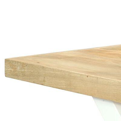 vidaXL Matbord 180x90x76 cm massivt mangoträ