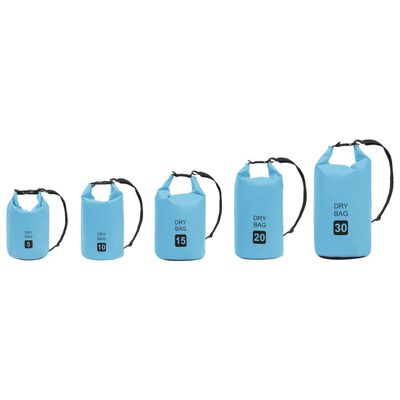vidaXL Vattentät packpåse blå 20 L PVC