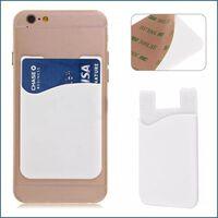 3x Silikon socka plånbokskortsmall klistermärke vit