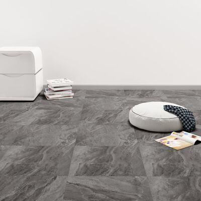 vidaXL Självhäftande golvplankor 20 st PVC 1,86 m² svart med mönster