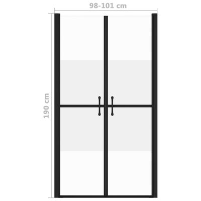 vidaXL Duschdörr halvfrostad ESG (98-101)x190 cm