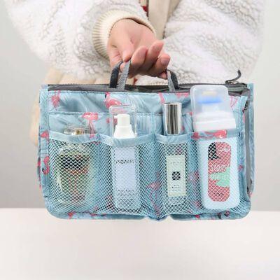 Bag in Bag Handväskinsats Väskinsats Blomma Svart