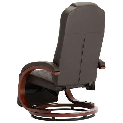 vidaXL Massagefåtölj brun konstläder