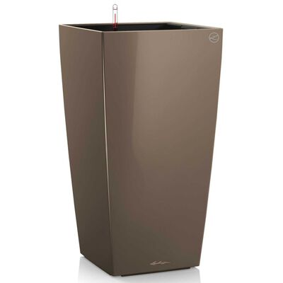 LECHUZA Odlingsenhet Cubico 40 ALL-IN-ONE högglans taupe 18215