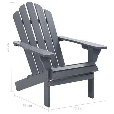 vidaXL Trädgårdsstol trä grå