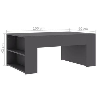 vidaXL Soffbord grå 100x60x42 cm spånskiva