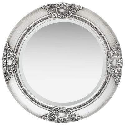 vidaXL Väggspegel barockstil 50 cm silver