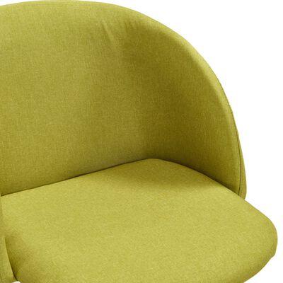 vidaXL Matstolar 6 st grön tyg