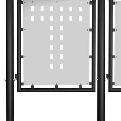 vidaXL Trädgårdsgrind stål 500x175 cm svart