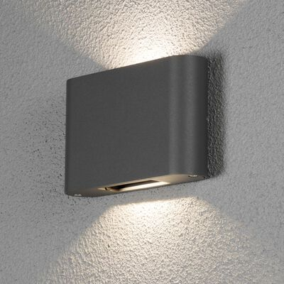 KONSTSMIDE LED vägglampa Chieri 2x6W antracit