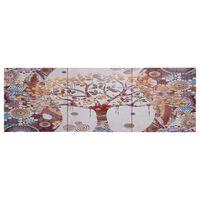 vidaXL Canvastavla träd flerfärgad 120x40 cm