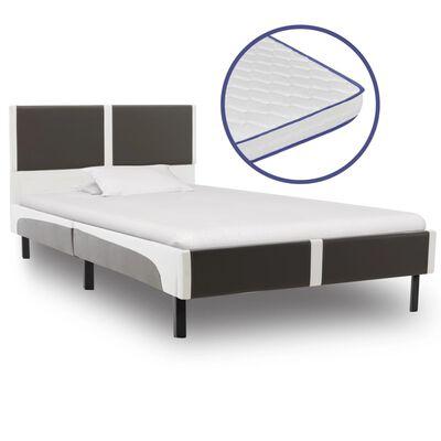 vidaXL Säng med memoryskummadrass konstläder 90x200 cm