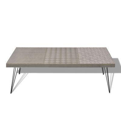 vidaXL Soffbord 120x60x38 cm grå