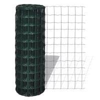 vidaXL Eurofence stål 25 x 1,5 m grön