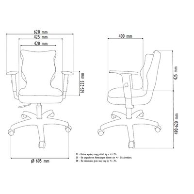 Good Chair Ergonomisk kontorsstol UNI melangegrå BA-C-6-B-C-DC18-B