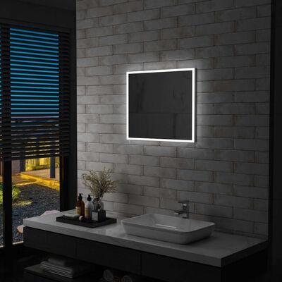 vidaXL Badrumsspegel LED 60x50 cm,