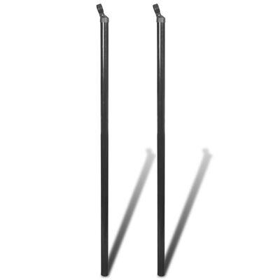 vidaXL Stag för flätverksstängsel 2 st 115 cm