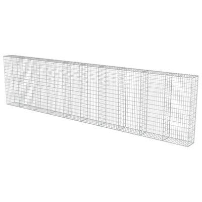 vidaXL Gabionmur i galvaniserat stål 600x30x150 cm