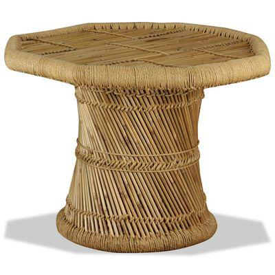 vidaXL Soffbord bambu oktogon 60x60x45 cm