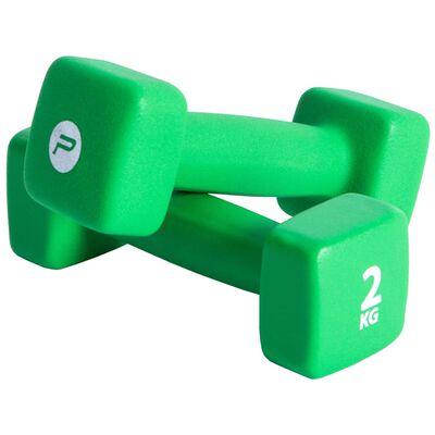 Pure2Improve Hantelset 2x2 kg neopren grön