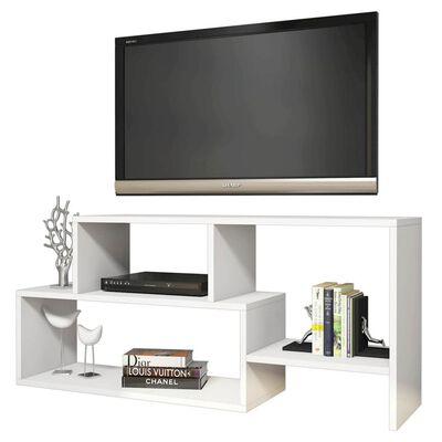 Homemania TV-bänk Clover 121,8x29,5x53,8cm vit