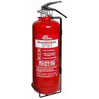 Nexa brandsläckare, 2 kg ABC-pulver, väggfäste, röd