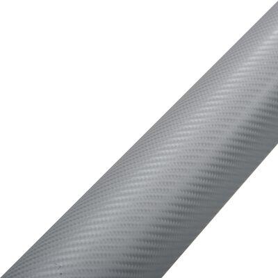 vidaXL Bilfoliering matt 4D silver 500x152 cm