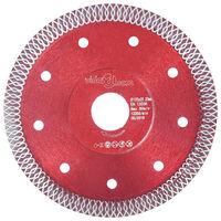 vidaXL Diamantklinga med hål 125 mm