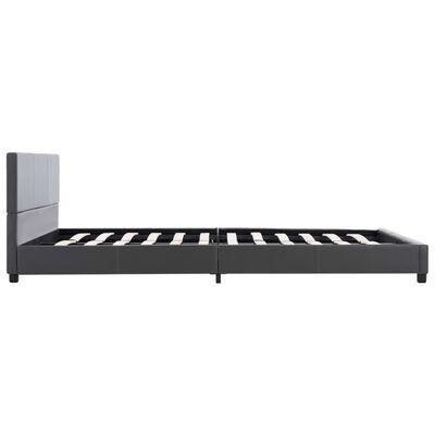 vidaXL Sängram grå konstläder 140x200 cm