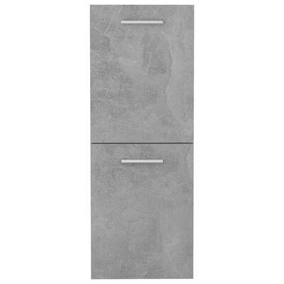 vidaXL Badrumsskåp betonggrå 30x30x80 cm spånskiva