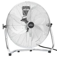 vidaXL Golvfläkt 3 hastigheter 60 cm 120 W krom