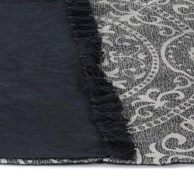 vidaXL Kelimmatta bomull 120x180 cm med mönster grå, Grå
