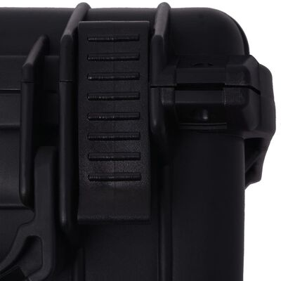 vidaXL Skyddande utrustningsväska 27x24,6x12,4 cm svart