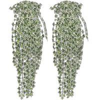 2 st, Spräcklig Konstgjord Murgröna 90 cm