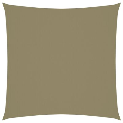 vidaXL Solsegel oxfordtyg fyrkantigt 5x5 m beige