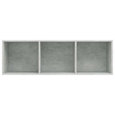 vidaXL Bokhylla/TV-bänk betonggrå 36x30x114 cm spånskiva
