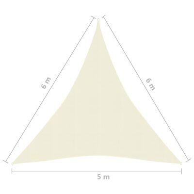 vidaXL Solsegel 160 g/m² gräddvit 5x6x6 m HDPE