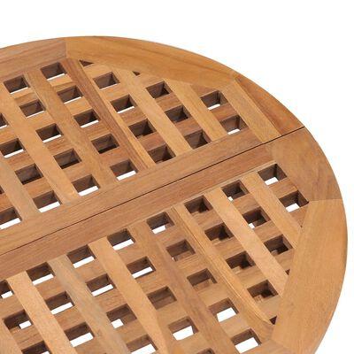 vidaXL Hopfällbar matgrupp med dyna för trädgården 3 delar massiv teak