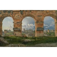 View through three,Christoffer Wilhelm Eckersberg,32x49.5cm