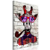 Tavla - Hipster Giraffe (1 Part) Vertical - 60x90 Cm