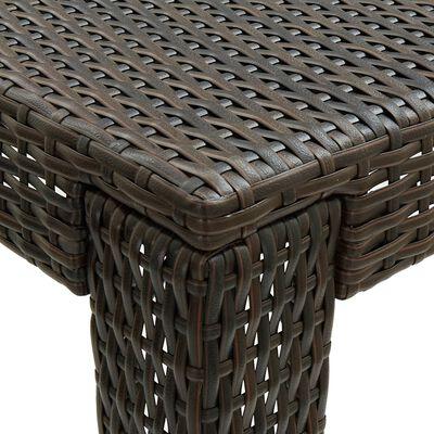vidaXL Bargrupp för trädgården med dynor 7 delar konstrotting brun