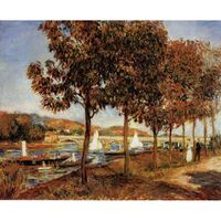The Bridge at Argenteuil in Autunn,Pierre Renoir,54.3x65.8cm