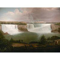 A General View of the Falls of Niagara,Alvan Fisher,50x38cm