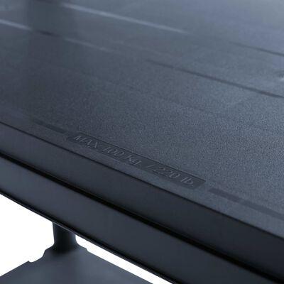 vidaXL Förvaringshylla svart 500 kg 100x40x180 cm plast